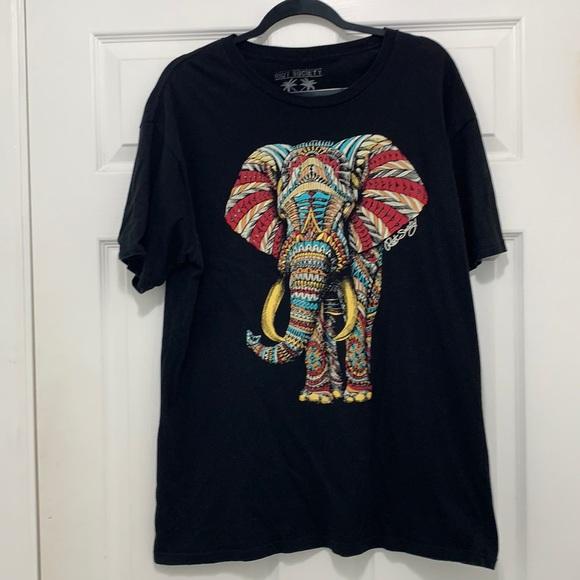 Riot Society- Black Elephant Graphic Tee (XL)